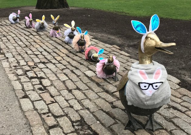 Make Way for Ducklings in their Easter Finest