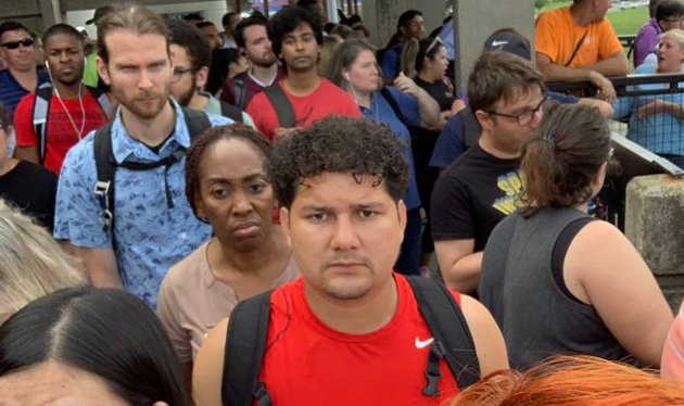 Unhappy commuters at Community College