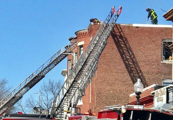 Fire on Adams Street in Dorchester