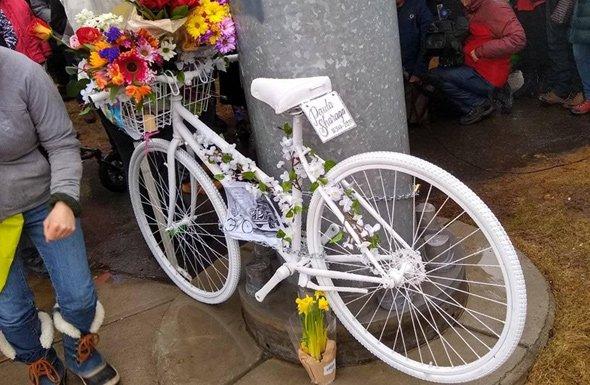 Fenway ghost bike