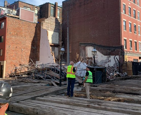 Building gone on North Street in the North End
