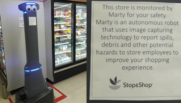 Marty the Stop and Shop robot in Quincy