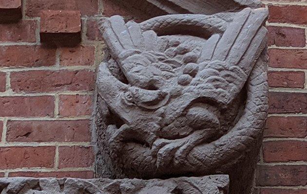 Gargoyle on Wellington Street building