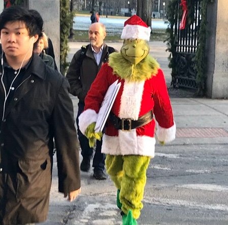 Grinch on Charles Street