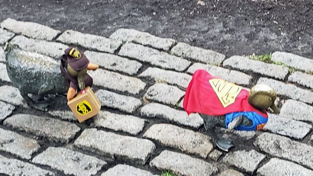 Public Garden ducks ready for Halloween