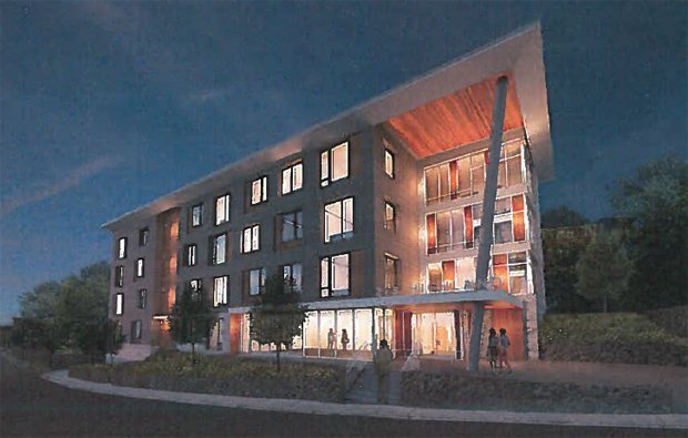 Architect's rendering of Highland Street proposal