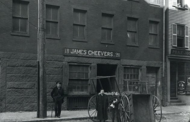 James Cheevers's storefront in old Boston