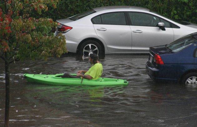 Kayaker in Malden