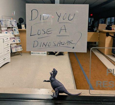 Lost dinosaur