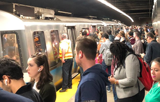 Commuters at Maverick have no choice but to wait for the next train