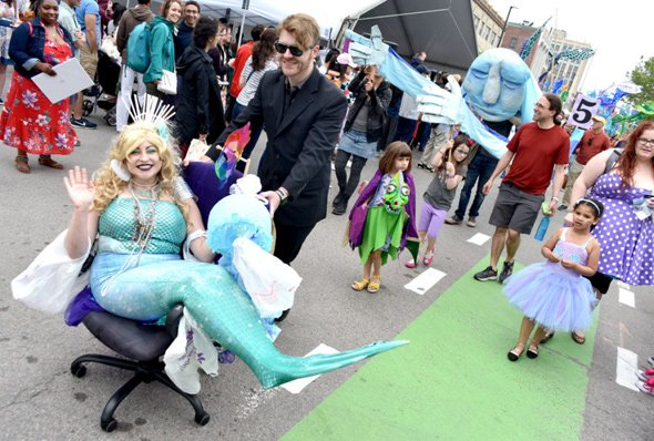 Mermaids on parade in Cambridge