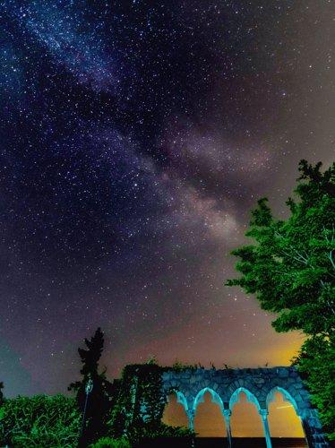 Milky Way from Hammond Castle in Gloucester