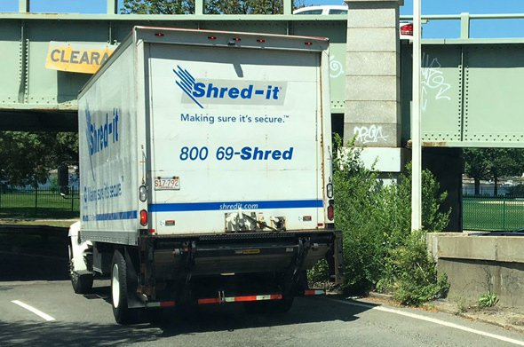 Truck almost gets ripped to shreds getting on Storrow Drive in Boston