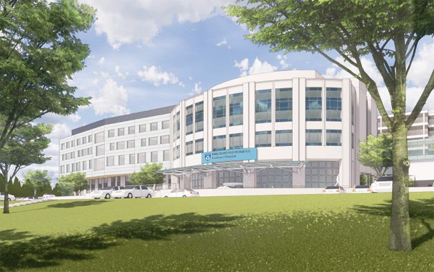 Rendering of new Faulkner Hospital