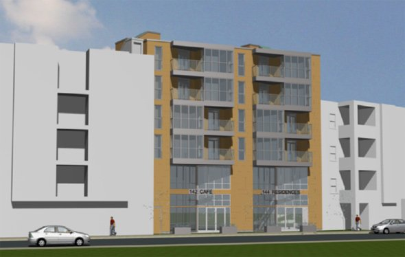 Proposed apartment building at 142 Old Colony Ave.