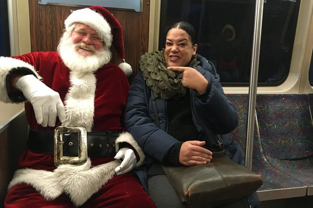 Santa Claus on the Orange Line