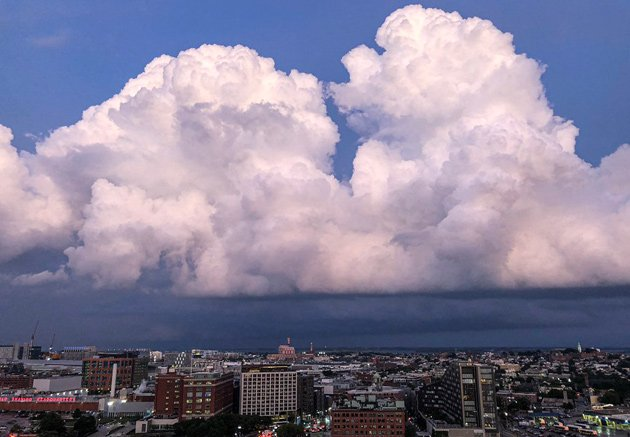 Big clouds over South Boston