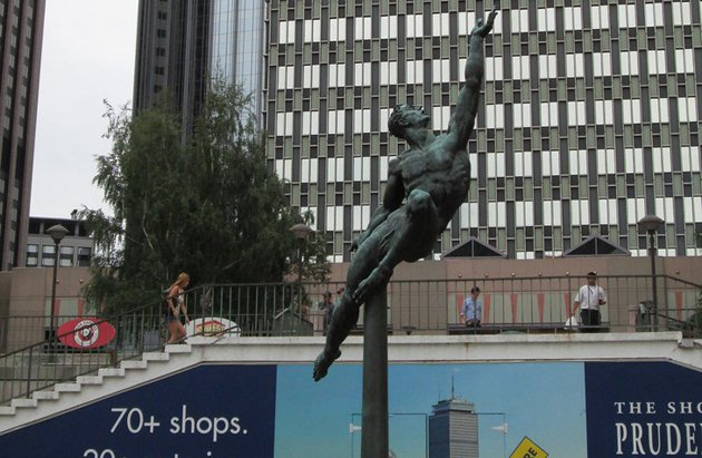 Statue in front of the Pru