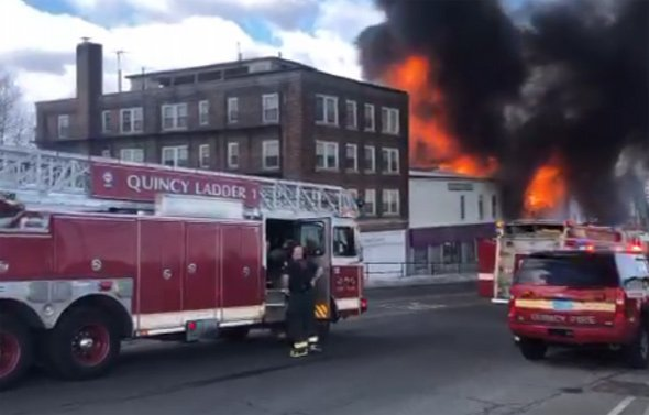 Fire in Quincy