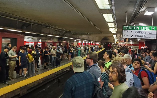 Red Line riders dumped at Park Street