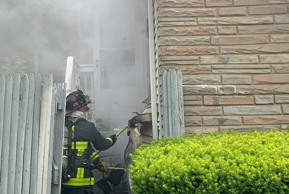 Firefighters at River Street fire