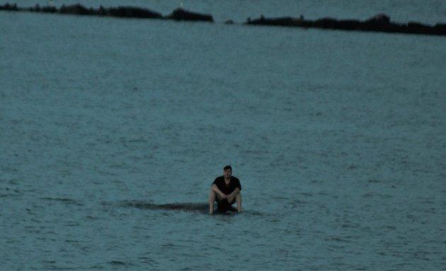 Man awaiting rescue