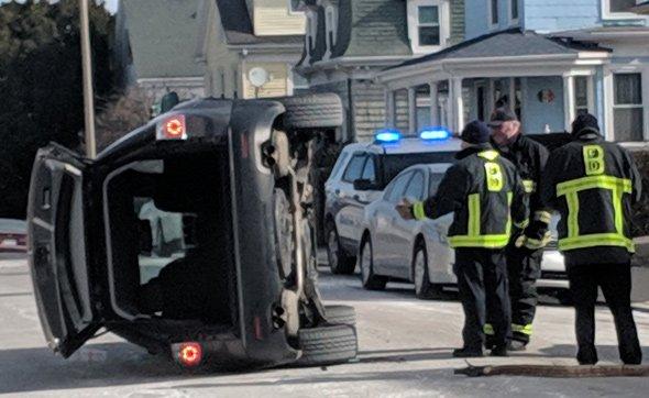Flipped SUV