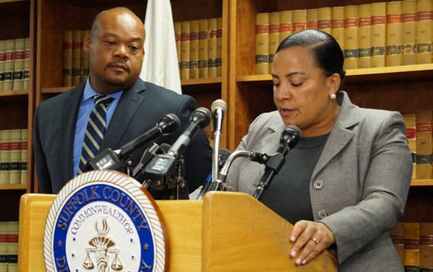 Suffolk County District Attorney Rachael Rollins and assistant DA Masai King