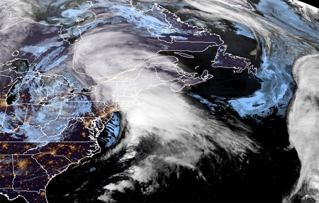 Nor'easter from space