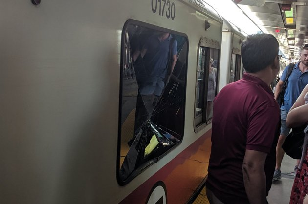 Smashed Red Line window