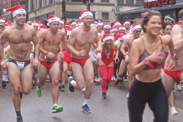 Santas in Speedos