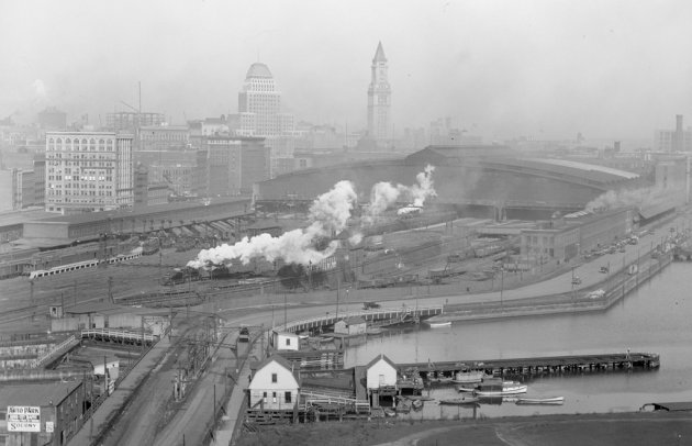 South Station in Boston before 1930