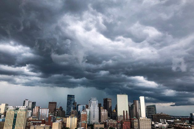 Storm over downtown Boston