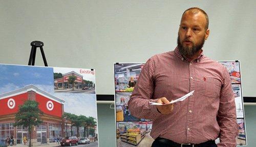 Target's Aaron Hemquist at Roslindale meeting