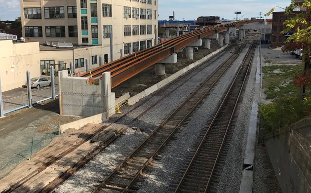 Flyover for Green Line Extension to Union Square