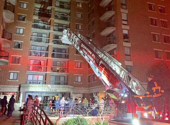 Residents evacuate Allston building due to flooding
