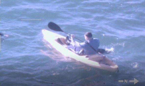 Trooper Michael Bucca in kayak