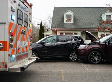Car smash in West Roxbury