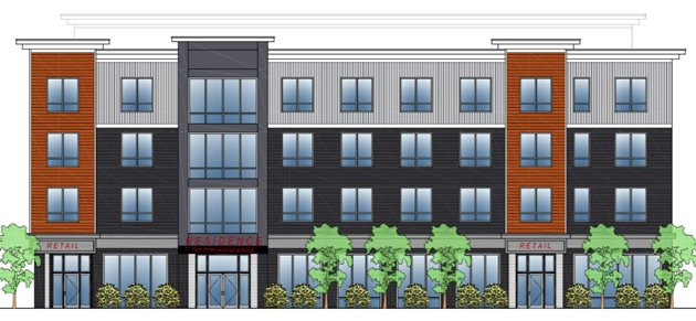 Architect's rendering of 1813 Dorchester Ave.