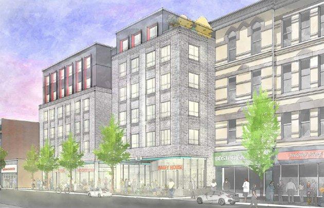 Architect's rendering of Washington Street proposal