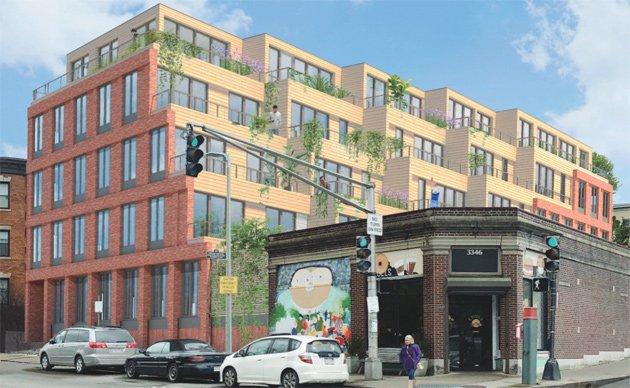 Architect's rendering of 3326 Washington St.