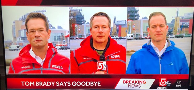 Just three reporters on screen at once at WCVB