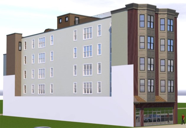Architect's rendering of proposed 472 West Broadway