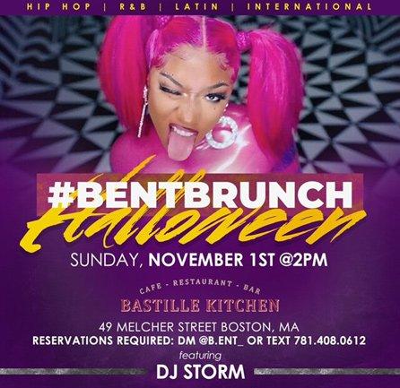#BentBrunch Halloween flyer