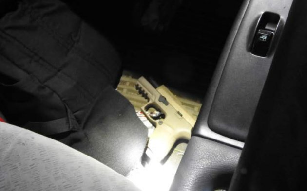 The gun seized from Boampong's car