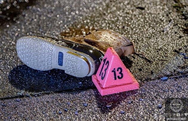 Victim's boot