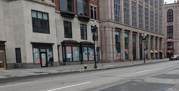 Boylston Street at 1:15 p.m.