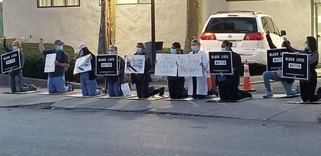 Brookside workers salute Black Lives Matter in Jamaica Plain