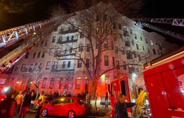 Firefighters at Charlesgate East