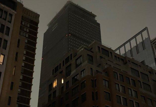 Darkened Prudential Center